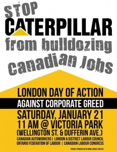 London Day of Action Jan 21 2012 Victoria Park